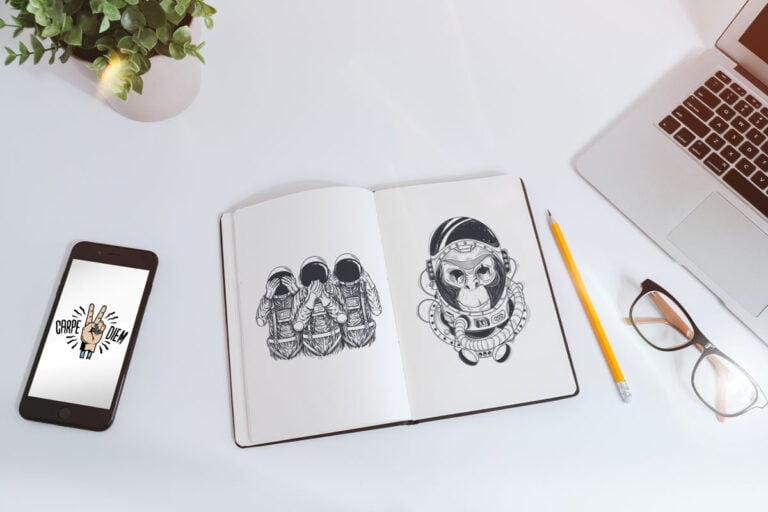 Libreta Dibujo Lápiz + Móvil
