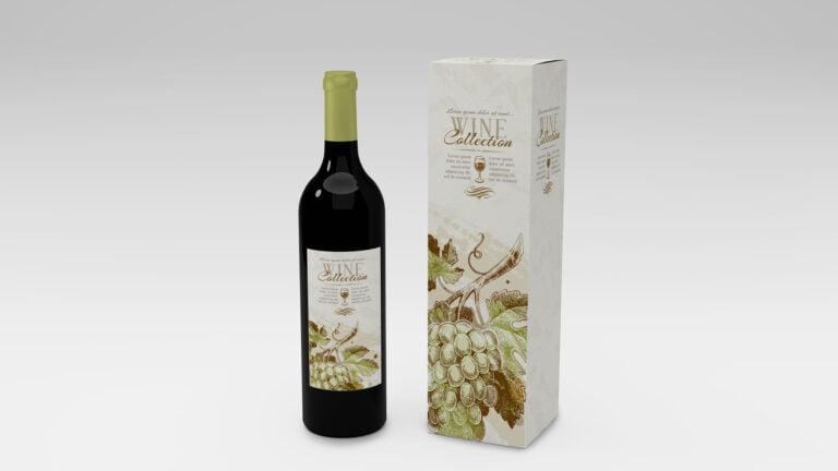 Mockup Botella De Vino